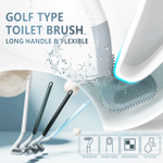 Silicone Golf Soft Toilet Brush No Dead Toilet Cleaning Brush Long Handle WC tool Cleaning Wall-Mounted Bathroom Accessories