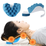 Neck and Shoulder Relaxer, Neck Pain Relief, Tension Headache Relief, Neck Support, Neck Traction Pillow Chiropractic Pillow and Cervical Spine Alignment
