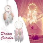 Dream Catcher LED Lighting Feather Dream Catcher Girl Room Bell Bedroom Romantic Hanging Decoration