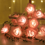2.5M 20 LED Garland Artificial Flower Bouquet String Lamps Foam Rose Fairy Lights For Valentine's Day Christmas Wedding Decor