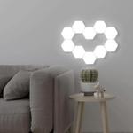 Creative Hexagonal Wall Lights Smart Touch-Sensitive LED Honeycomb Night Lights DIY Modular Assembled Splicing Modern Wall Lamps Home Decor
