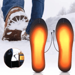 Heated Insoles, Heated Shoes Insoles, Heated Boot Insoles, Heated Insoles for Men, USB Winter Warm Shoe Insole, Rechargeable Heating Cuttable Insole for Hunting, Skiing, Fishing, Hiking, Size 41-46