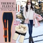 Winter Leggings Women Thicken Warm Jegging Jeans Large Size Women's pants Fleece Inside Faux Denim Trousers 3xl Thermal Leggings