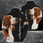 Basset Hound Customize 3D All Over Printed Hoodie