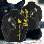 Black Cat Customize 3D All Over Printed Hoodie
