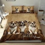 3 Bulldog Love Vintage Style Bedding Set