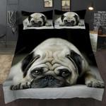3D Cute Dog Duvet Cover Set Bedding Pug King Queen Bed Comforter Uo05#