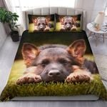 German Shepherd Puppy Bedding Set - Black / Us Twin