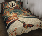 Dachshund Fractal Brown Quilt Bed Set