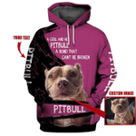 Customized A Girl And Her Pitbull Dog 3D Hoodie