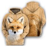 Fox - 3D All Over Printed Hoodie