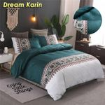 Simple Luxury King Size Bedding Set Floral Printed Duvet Cover Sets Bed Linen Quilt Covers Single