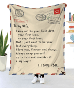 To My Wife Letter Blanket 52 X 59 / 130 150 Cm
