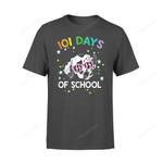 Dog Gift Idea 101 School Days Funny Dalmation T-Shirt - Standard T-Shirt S / Black Dreamship