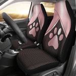 Dog Pink Metal Car Seat Covers / Universal Fit
