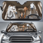 Arabian Horse Family Car Sunshade 57 X 27.5