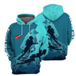 Scuba Diving - 3D All Over Printed Hoodie
