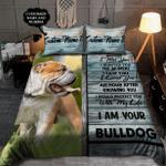 I Am Your Bulldog - Customize Bedding Set