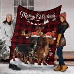 Dachshund Christmas Fleece Blanket