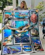 3D Huge Turtle Fleece Blanket HPV01
