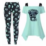 Blue Flora Skull Outfit