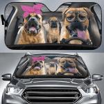 Bullmastiff Family Car Sunshade 57 X 27.5