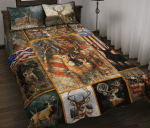 Deer Image Quilt Bed Set Twin