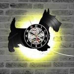 Scottish Terrier Led Clock Vinyl Record