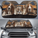 Basset Hound Family V3 Car Sunshade 57 X 27.5