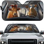 Cattle Family Car Sunshade 57 X 27.5