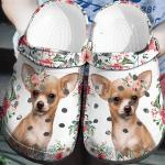 Chihuahua Floral Croc Shoes