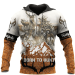 Born To Hunt All Over Printed Hoodie HPV01