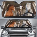 Welsh Pony Family Car Sunshade 57 X 27.5