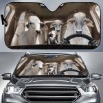 Brahman Cattle Family Car Sunshade 57 X 27.5