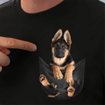 German Shepherd In Pocket T-shirt