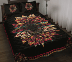 Native American Pattern Sunflower Quilt Bed Set
