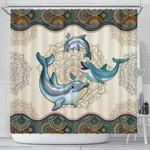 Dolphin Mandala Shower Curtain -
