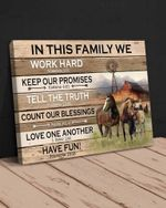 Horse - In This Family Canvas
