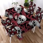 Octopus And Skull Tablecloth Red / 140X140 -