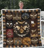 Honey Bee Vintage Quilt Blanket