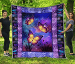 Beautiful Butterfly Quilt Blanket