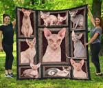 Sphynx Cat Quilt Blanket Twin