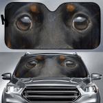 Dachshund Eyes Auto Sunshade 57 X 27.5
