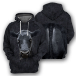Angus Cattle 3D All Over Printed Hoodie