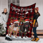 French Bulldog Christmas Fleece Blanket