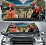 Rooster Car Sunshade 57 X 27.5