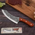 Handmade Chef Knife Clad Forged Steel Boning Slicing Butcher Kitchen Knives Meat Cleaver Tools