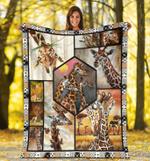 All About Giraffe Fleece Blanket