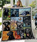 Black Labrador Retriever Quilt BLanket