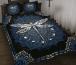 Blue Dragonfly Quilt Bed Set Twin